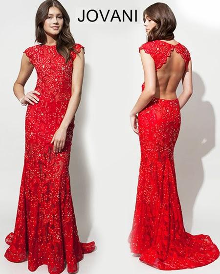 Червена бална рокля Jovani 2014
