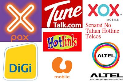 Talian Hotline Telcos