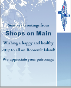 SEASON'S GREETINGS FROM SHOPS ON MAIN STREET