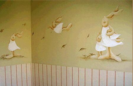 Arquitectura interior habitaciones infantiles - Habitaciones con papel pintado y pintura ...