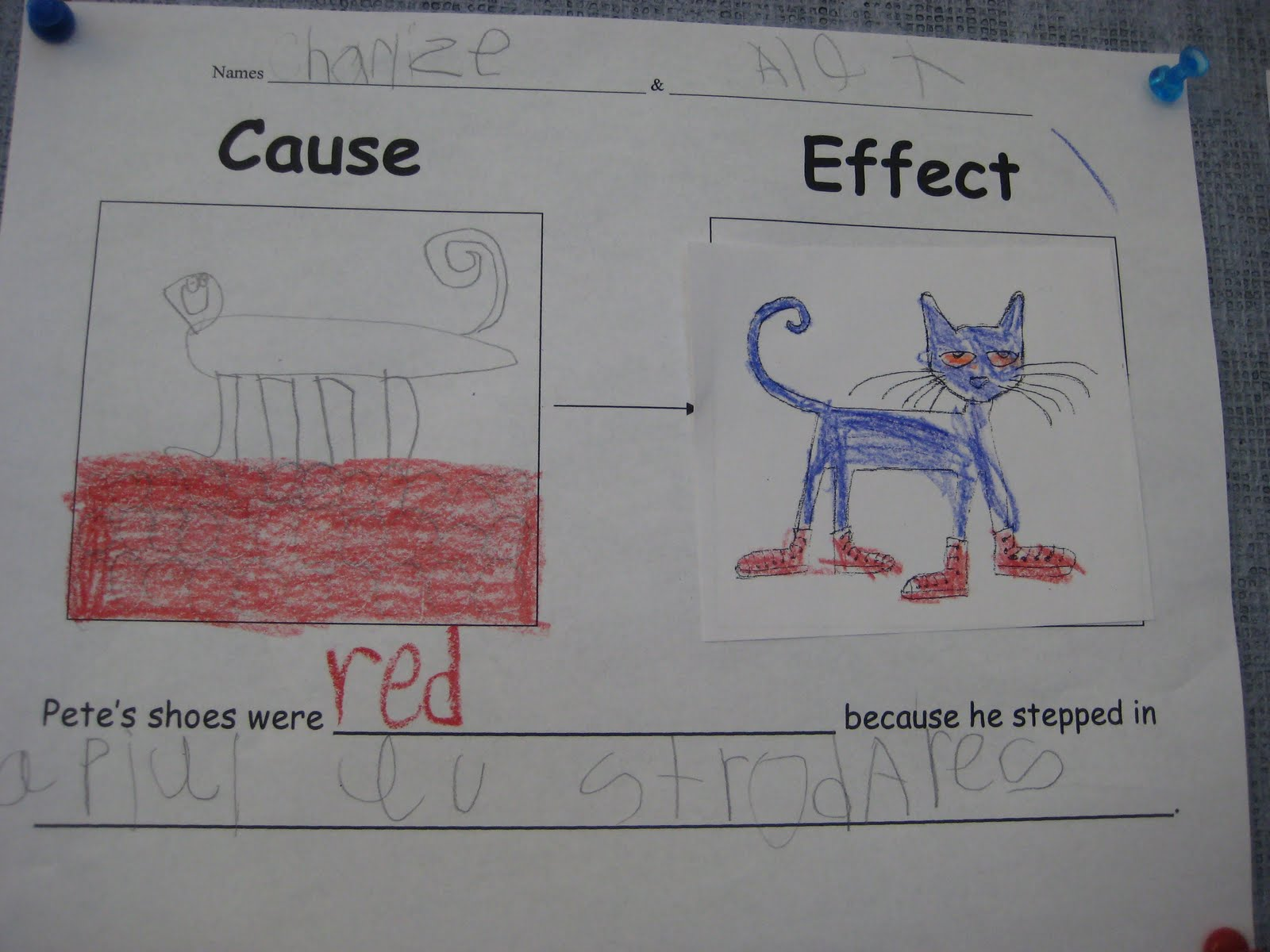 Finally in First Pete the Cat Cause Effect – Cause and Effect Worksheets 1st Grade