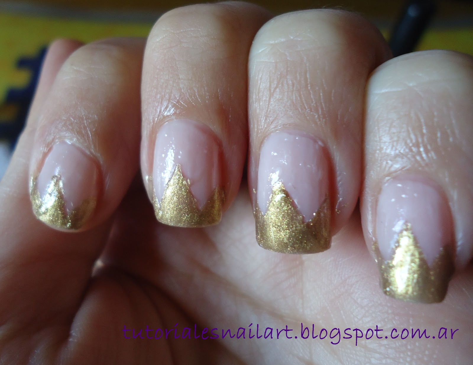 Tutoriales Nail Art: Uñas Corona