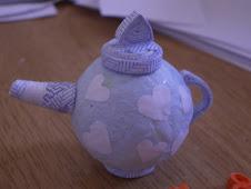 Blue widget teapot