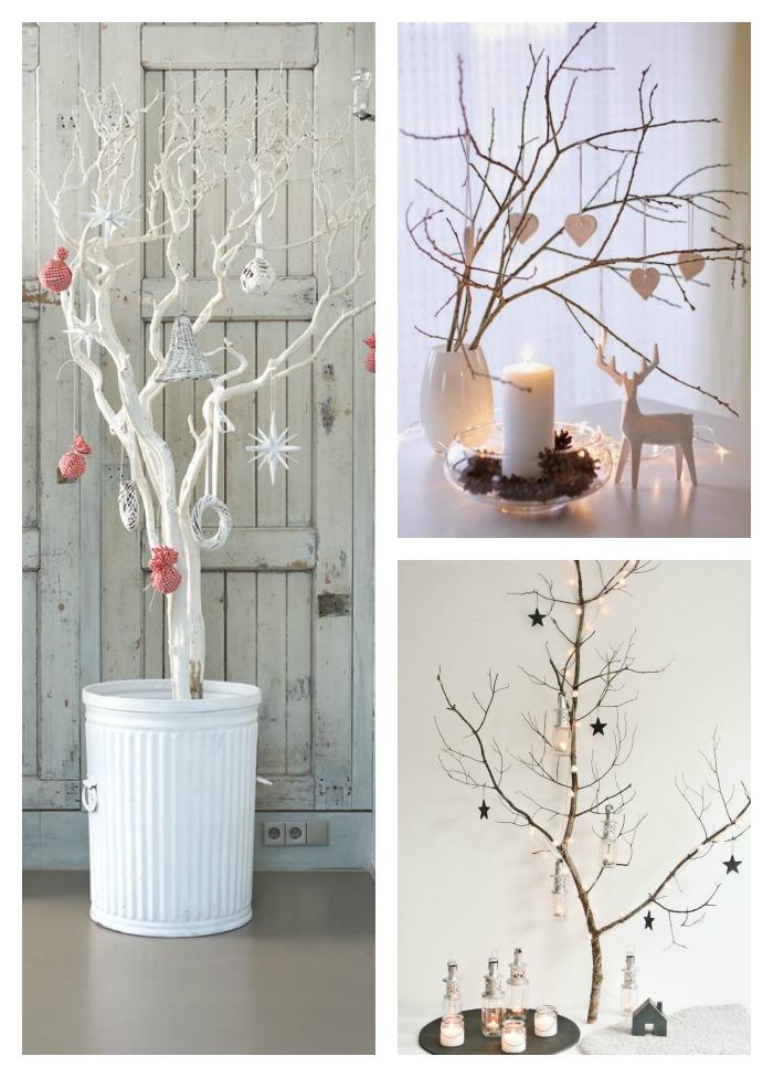Una pizca de hogar 11 rboles de navidad con ramas secas - Ramas de arboles ...