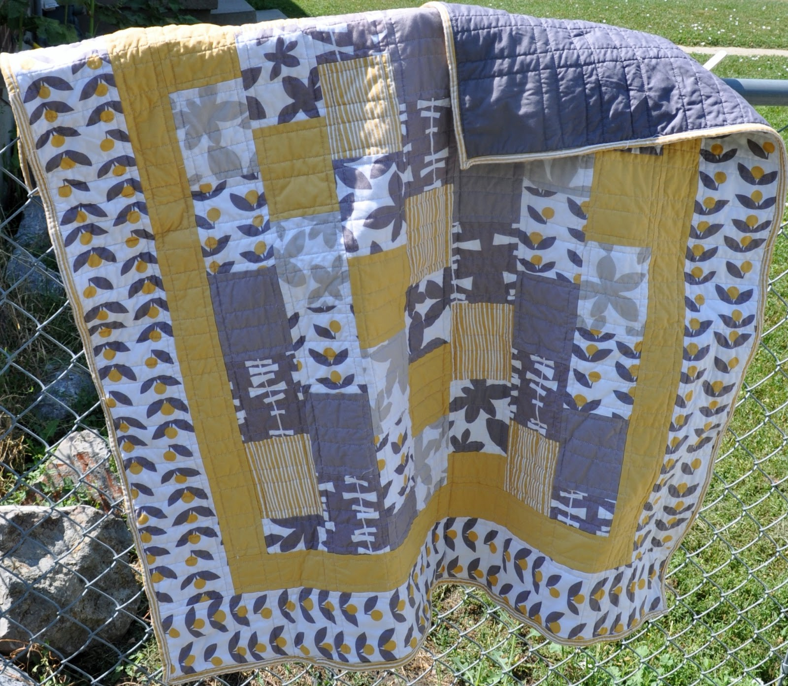 Richard and Tanya Quilts: Yellow and Gray Quilt : yellow and gray baby quilt - Adamdwight.com