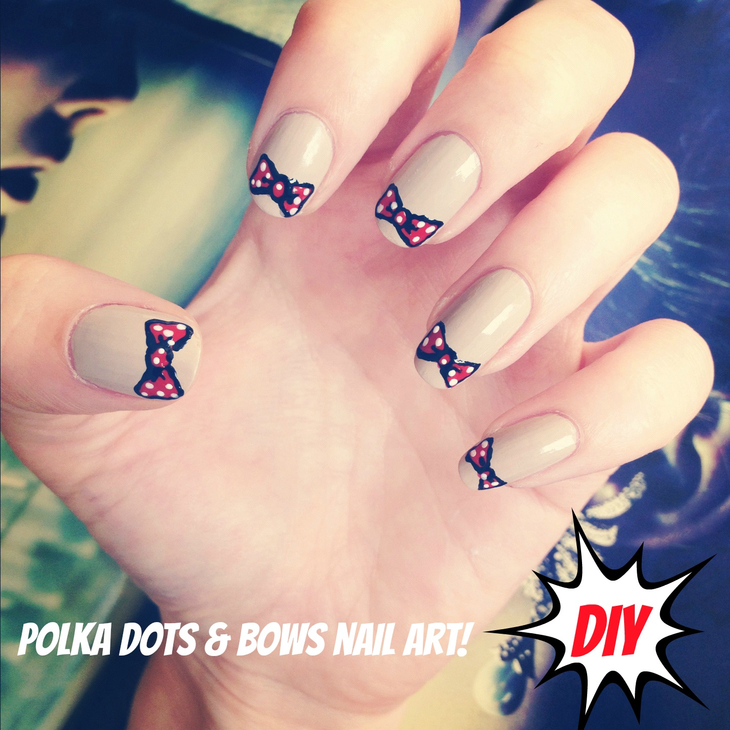 Adorable Nail Art: Cute Bow Nail Art DIY!