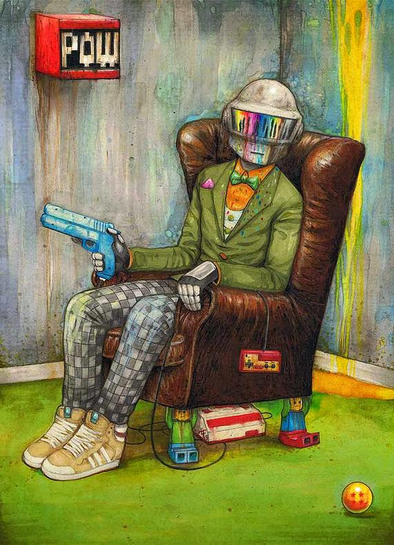 10-Daft-Punk-Luke-Tobias-Surreal-Drawings-from-Popular-Culture-www-designstack-co