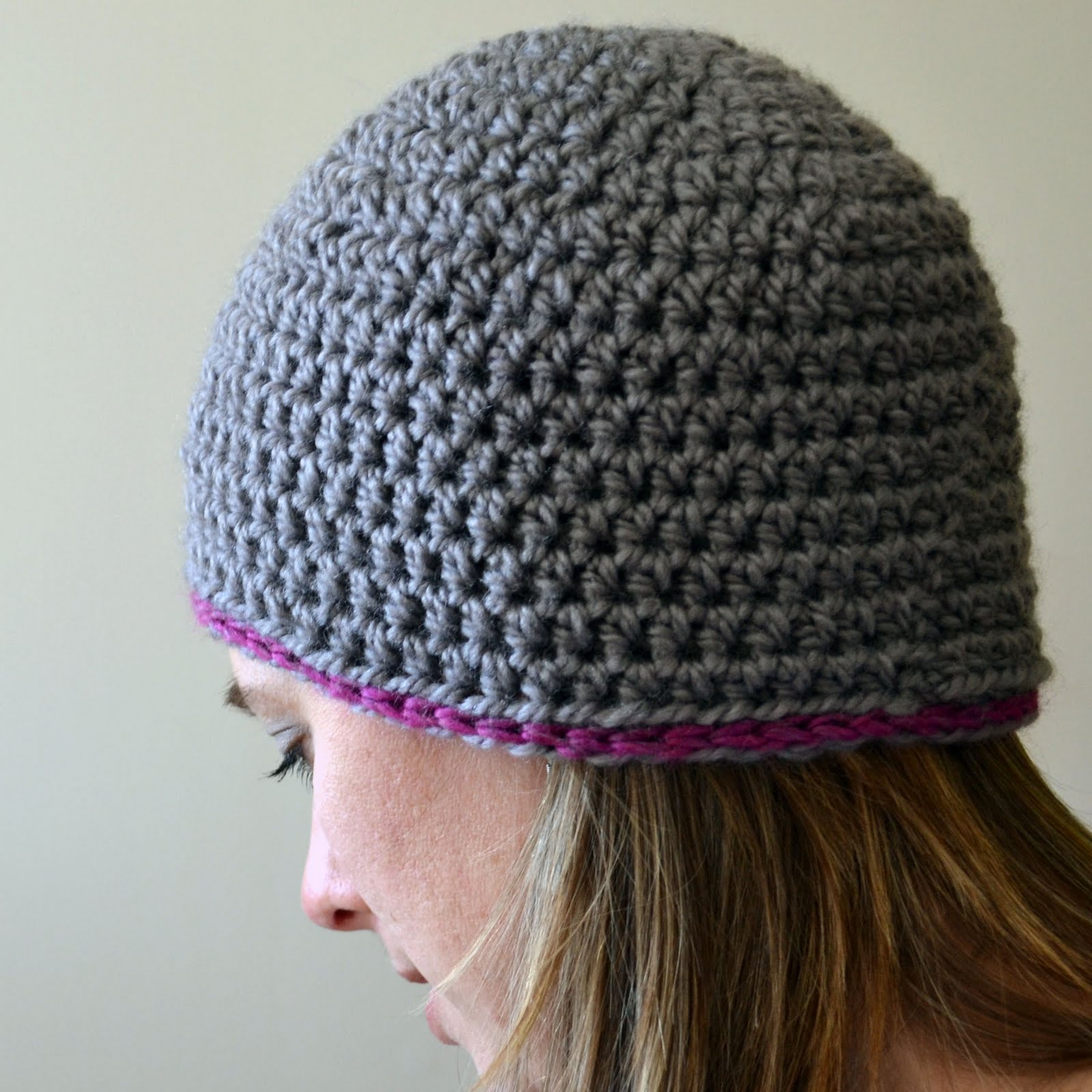 How To Crochet A Beanie : How To Crochet A Beanie For Beginners One for a beanie hat.