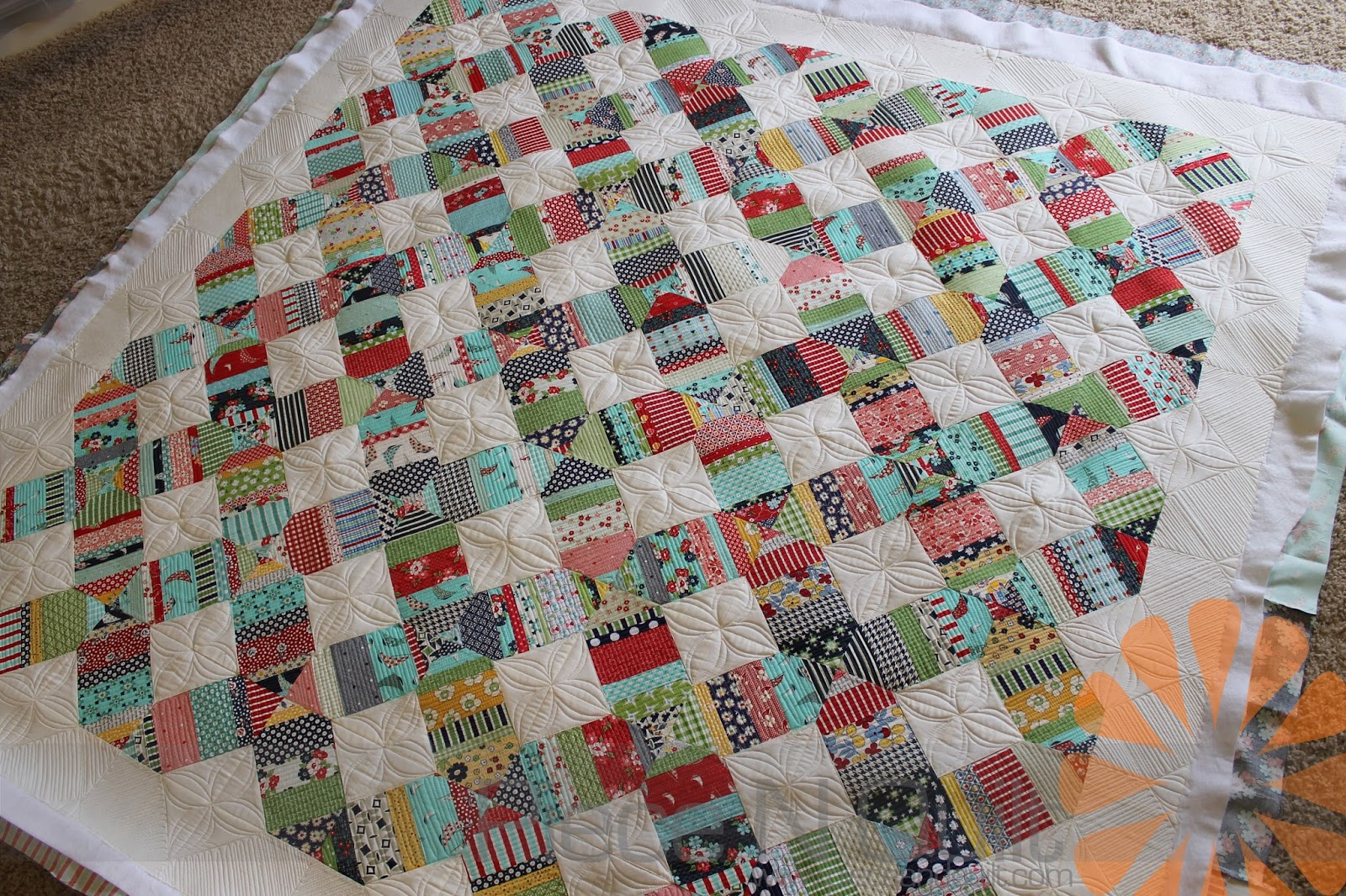 Ideas For Quilting Borders : Piece N Quilt: Custom Machine Quilting - A Fun Border Idea!
