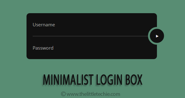 Minimalist login box