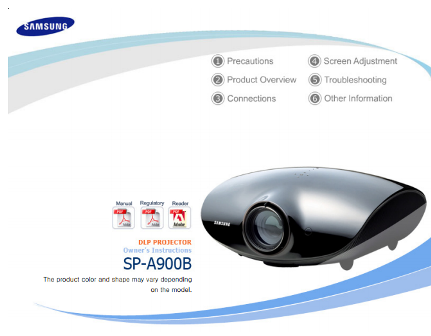 Samsung SP-A900B Projector Manual  Cover