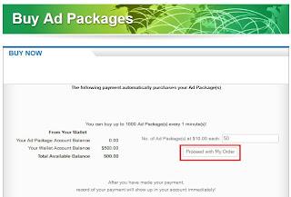 Jumlah pembelian Iklan di ProfitClicking(dot)com
