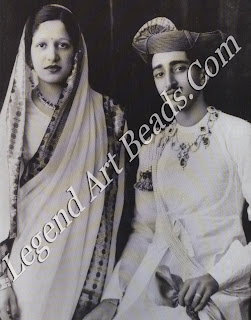 Yashwant Rao Holkar, Maharaja of Indore and his first wife, Sanyogita. Her husband's equal in her appreciation of Continental art, Sanyogita died at a tragically early age in 1937.