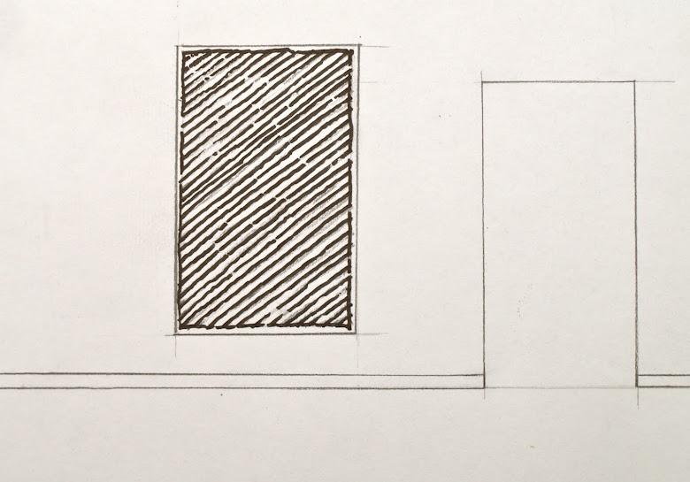 Voorstel voor tekening, geïnspireerd op Palladio, 2016. Te zien 23 - 27 november Last Call, afschei