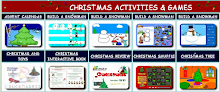 Xmas activities, games, stories and songs