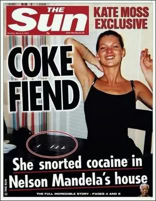 KATE MOSS COCAINE NELSON MANDELA HOUSE