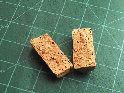 DIY handmade stamps using wine corks
