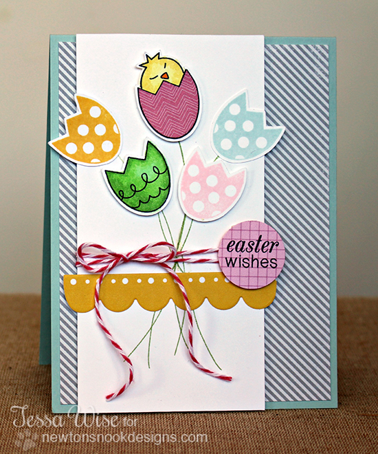Tulip card by Tessa Wise for Newton's Nook Designs - Easter Scramble Stamp set