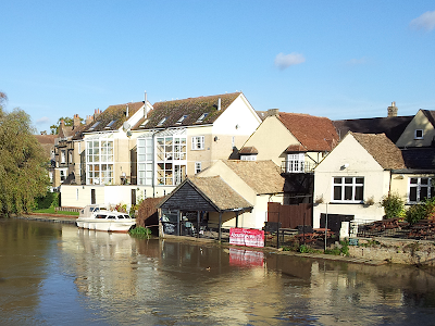 Part of the river front in St Neots