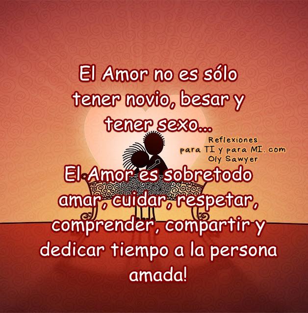 El Amor es sobretodo amar, cuidar, respetar, comprender, compartir  y dedicar tiempo a la persona amada!