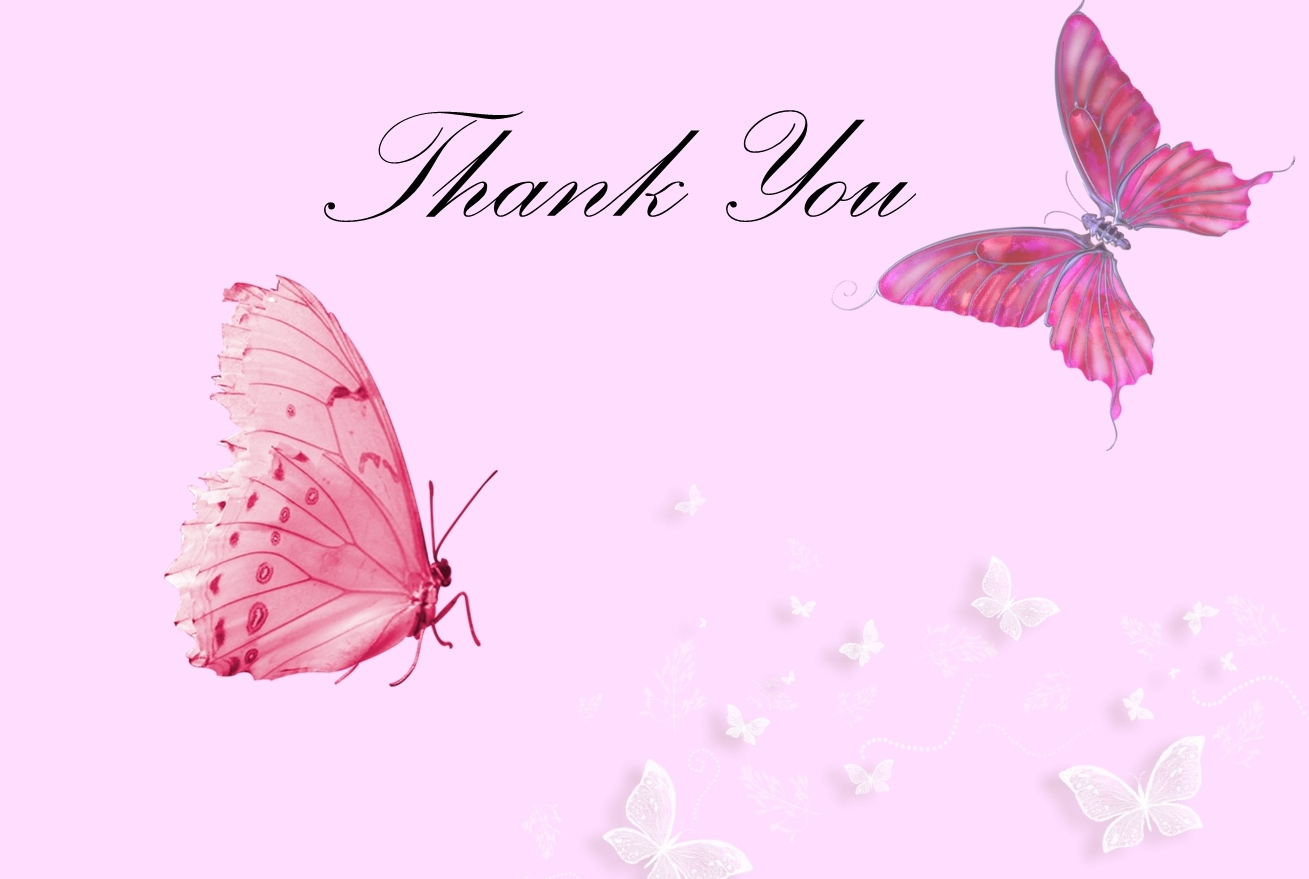 Abstract Thank you Pink HD Wallpaper