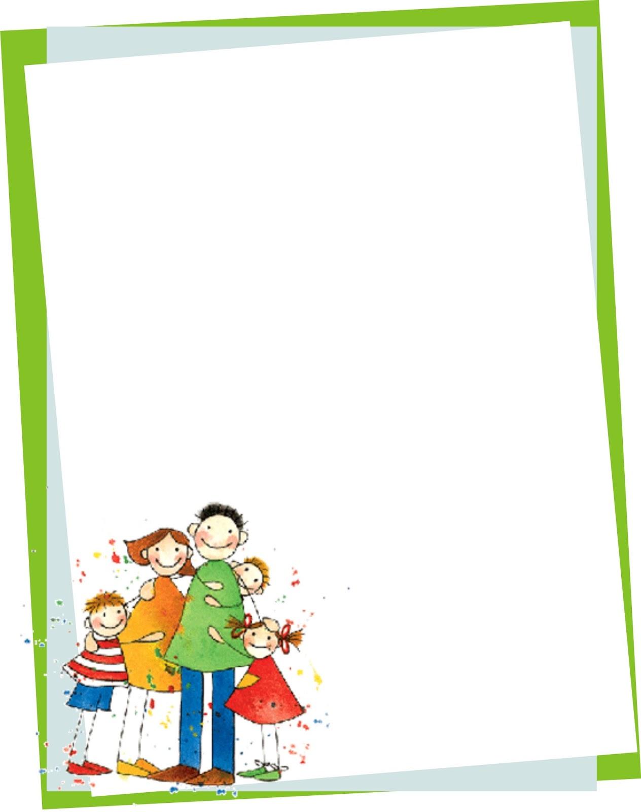 BORDERS FOR KID: DISEÑO GRAFICO CARATULAS DIA DE LA FAMILIA