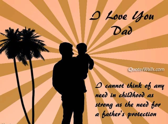 Father's Day Lovely Quote With Picture