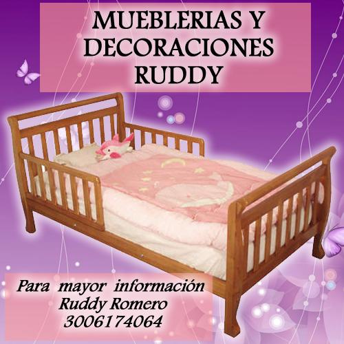 Muebles de madera y decoraci nes ruddy romero espitia - Precios de camas para ninos ...