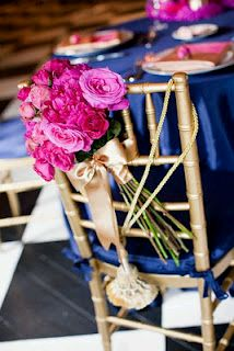 Wedding chairs decorated with flowers