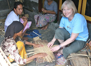 Basket weaving in Lombok