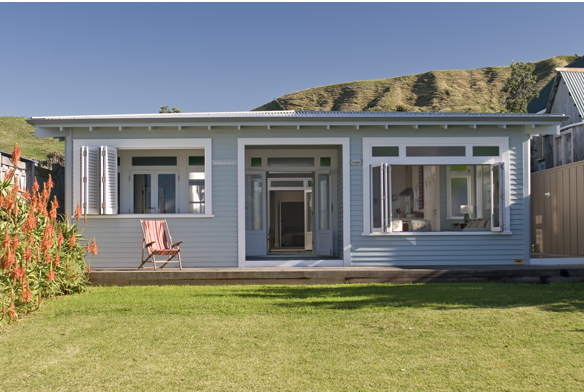 Sommerwhite gisborne beach house - Exterior paint colours nz image ...