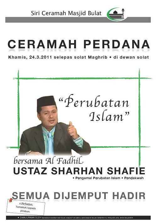 Ceramah Perubatan Islam Ustaz Syarhan Syafie www.mymaktabaty.com