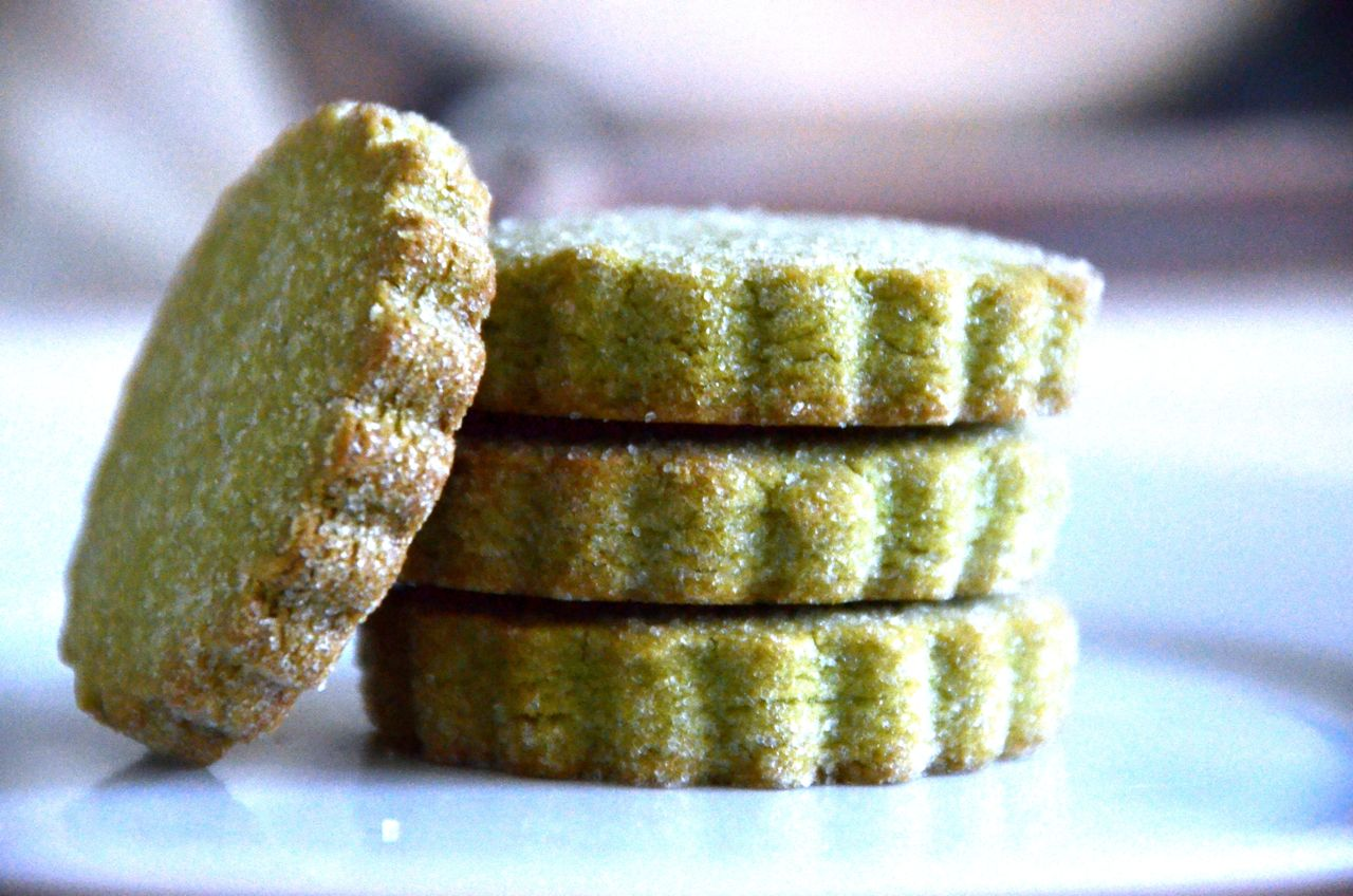 PIZZA FOR BREAKFAST: MATCHA (GREEN TEA) SHORTBREAD