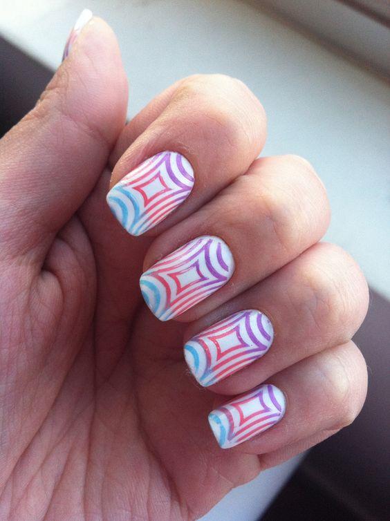 Glitter nails art