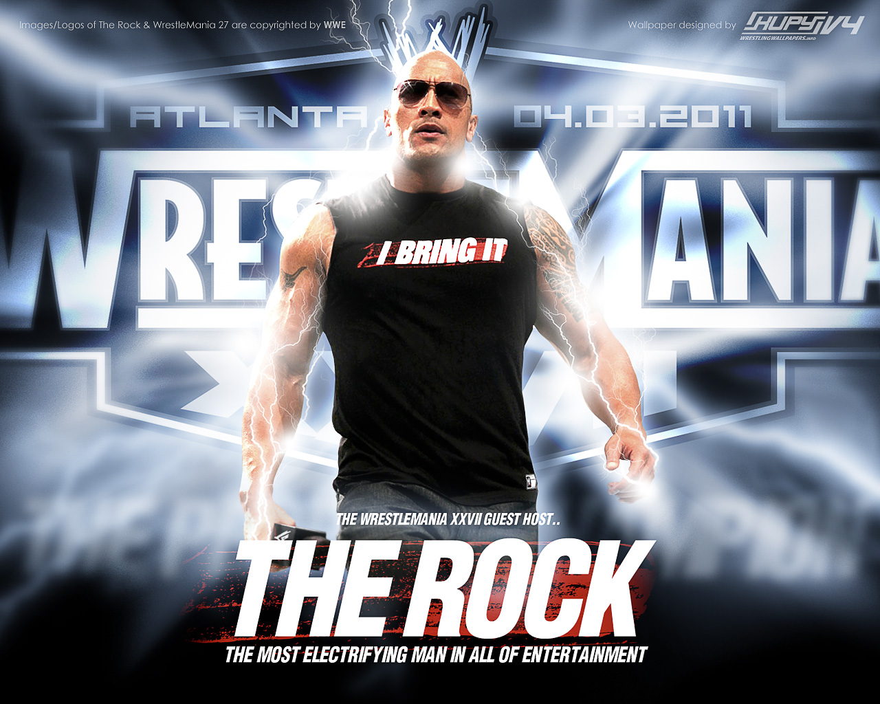 sport stars gallery: wwe the rock hd wallpapers 2012