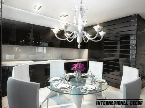 Art Deco kitchen designs and furniture, kitchen chandelier