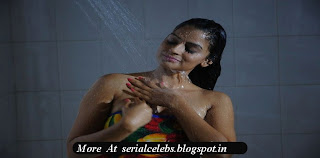 Anuhya Reddy in bathroom