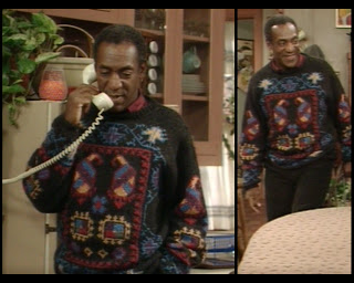 Cosby Show Huxtable fashion blog 80s sitcom Bill Cosby sweater Cliff Huxtable