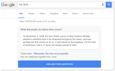 Google Fun Facts I'm Curious Search Results - www.OneCoolTip.com