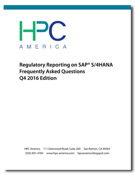 FERC on SAP S/4HANA FAQ