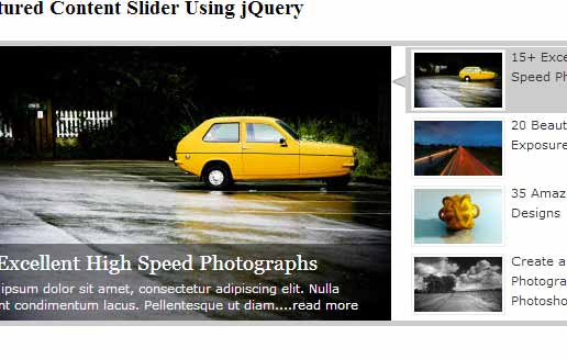 Content Slider Using jQuery
