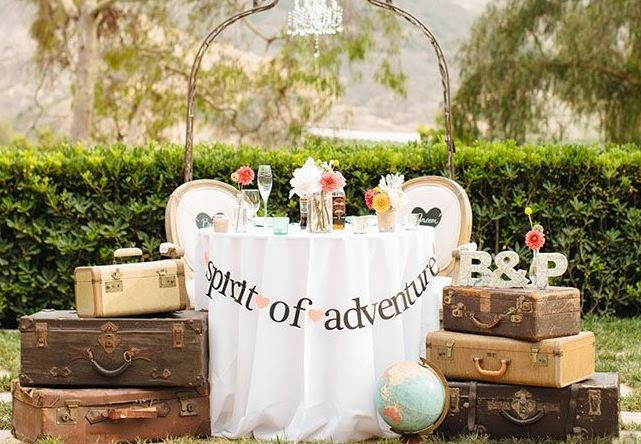 Travel Themed Wedding Centrepieces Eat Travel Love Travel And