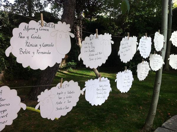 La guarida de bam sentar a los invitados - Ideas originales para una boda ...