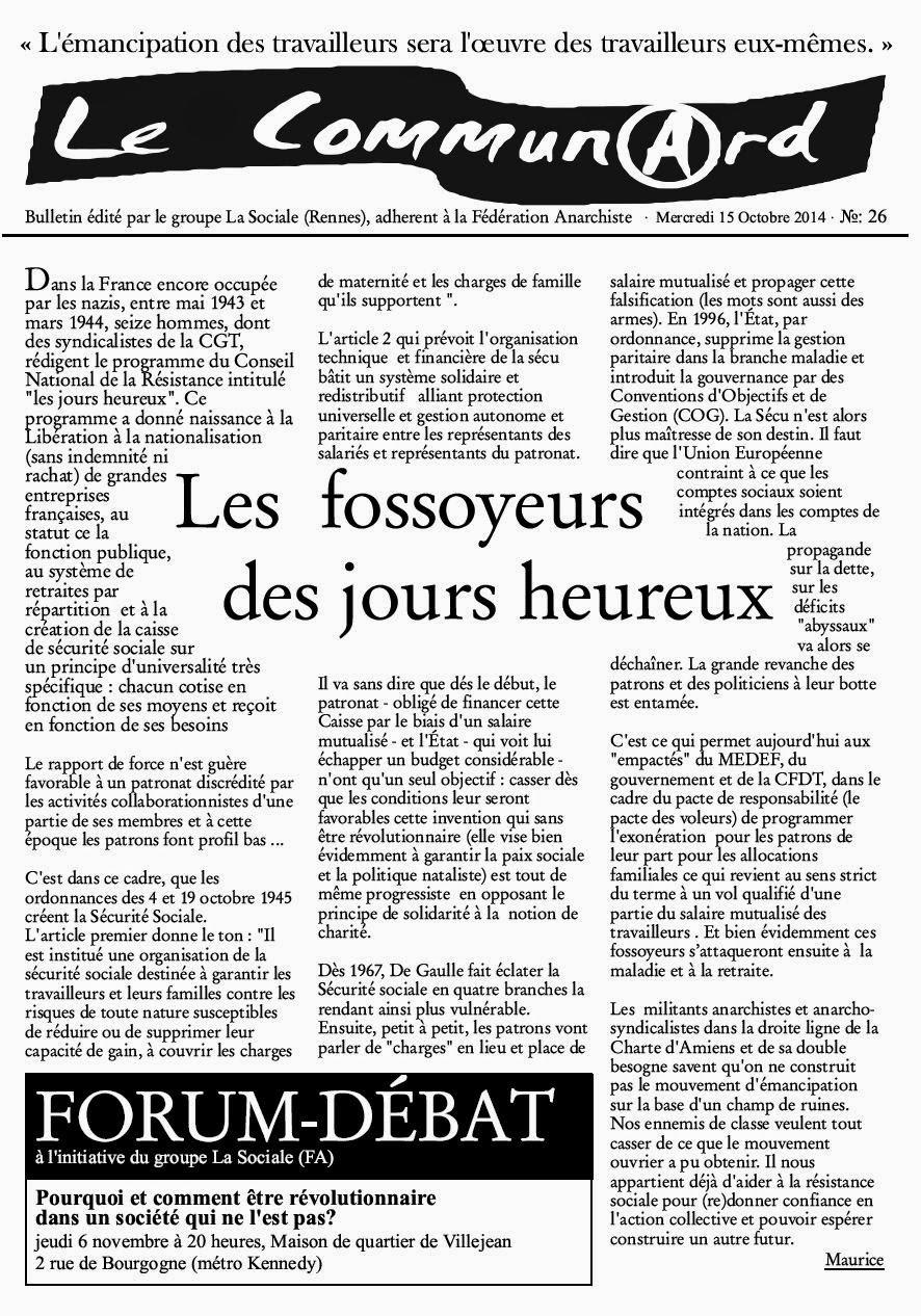 première page du communard N°26