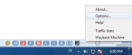 klik kanan pada taskbar alexa