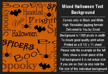 Halloween Background Digital Stamp