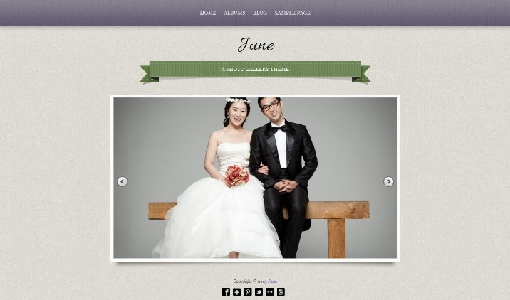 June Free WordPress Theme
