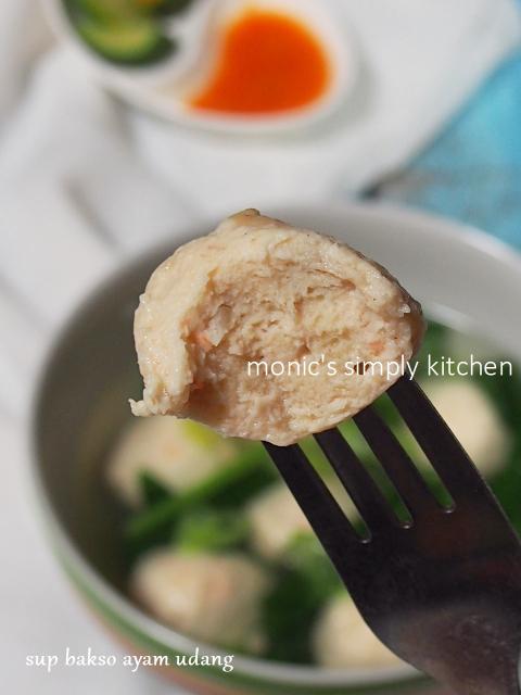 tekstur bakso ayam udang