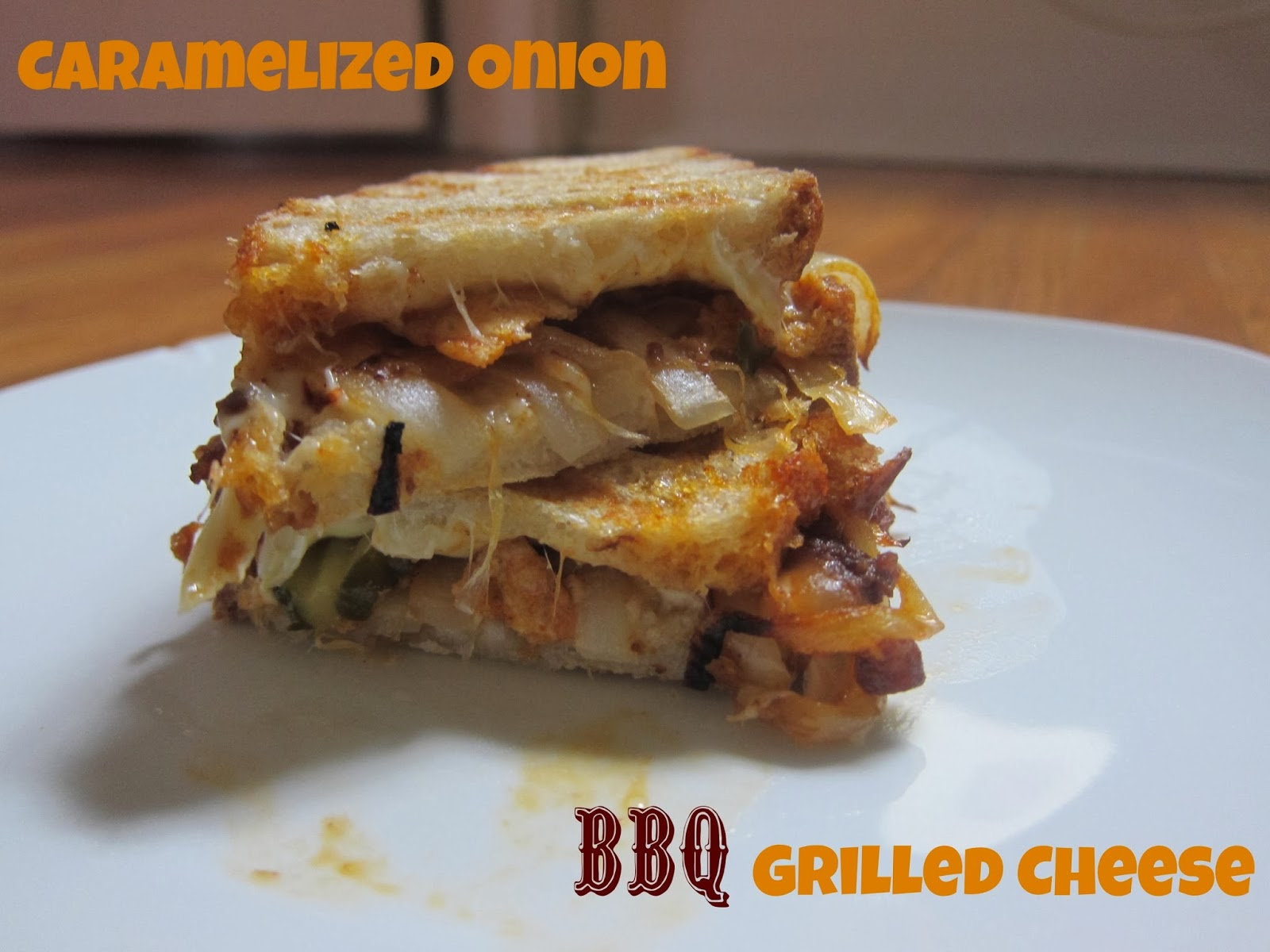 Caramelized Onion BBQ Grilled Cheese | The Economical Eater