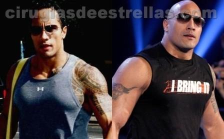 The Rock antes y después